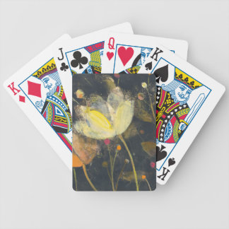 Moonlight Garden on Black Bicycle Playing Cards