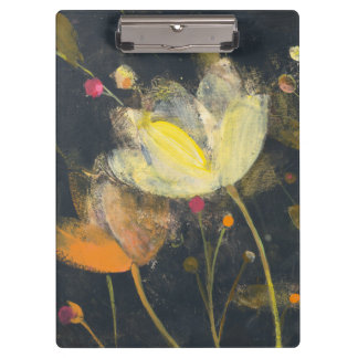 Moonlight Garden on Black Clipboard