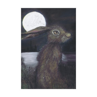 MOONLIGHT HARE CANVAS PRINT