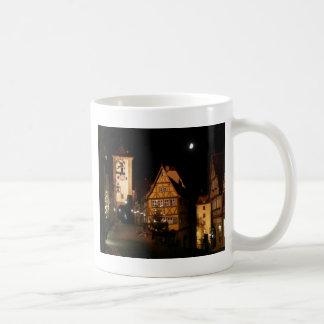 Moonlight in Rothenburg Basic White Mug