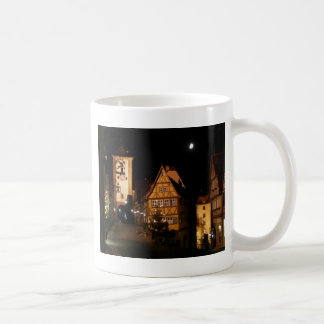 Moonlight in Rothenburg Classic White Coffee Mug