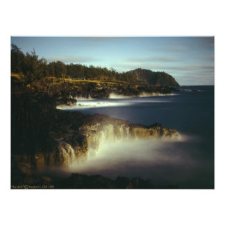 Moonlight Ka'uiki Hana Maui Photographic Print