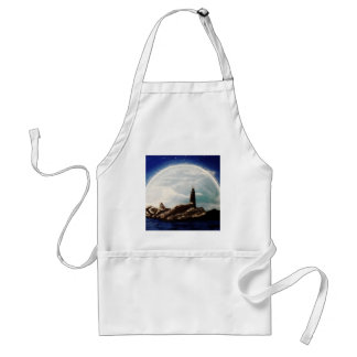 Moonlight LIghthouse Adult Apron