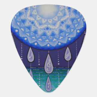 Moonlight mandala guitar pick, by Soozie Wray. Plectrum