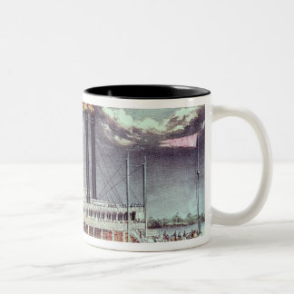 Moonlight on the Mississippi Two-Tone Coffee Mug