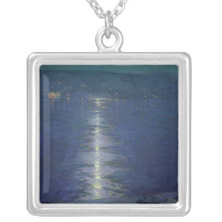 Moonlight on the River, 1919 Silver Plated Necklace