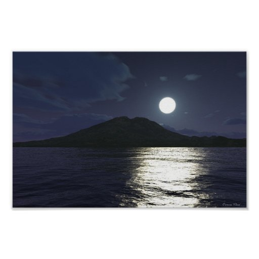 Moonlight on the Water Poster