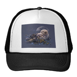 Moonlight Otters Trucker Hats