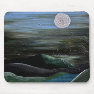 Moonlight Over the Hills Mouse Mat