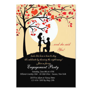 Moonlight Proposal Engagement Party Invitation