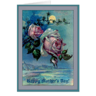 Moonlight Roses A Mother's Day Note Card