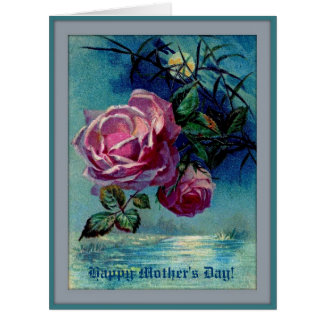 Moonlight Roses B Mother's Day Big Greeting Card
