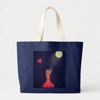Moonlight Sadness Large Tote Bag