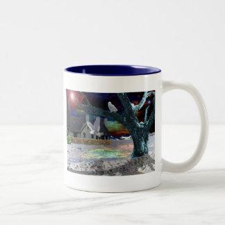Moonlight Shadow.. Two-Tone Coffee Mug