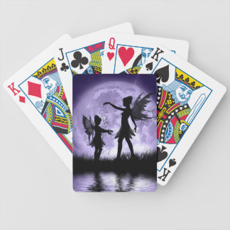 Moonlight Sihouettes Bicycle Playing Cards