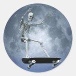 Moonlight Skateboarding sticker
