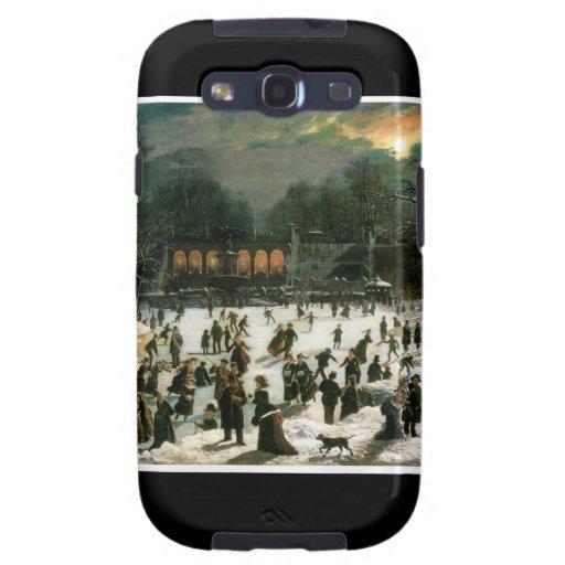 Moonlight Skating in Central Park Galaxy S3 Case