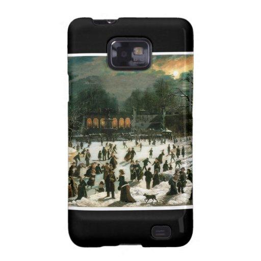 Moonlight Skating in Central Park Samsung Galaxy S Cover
