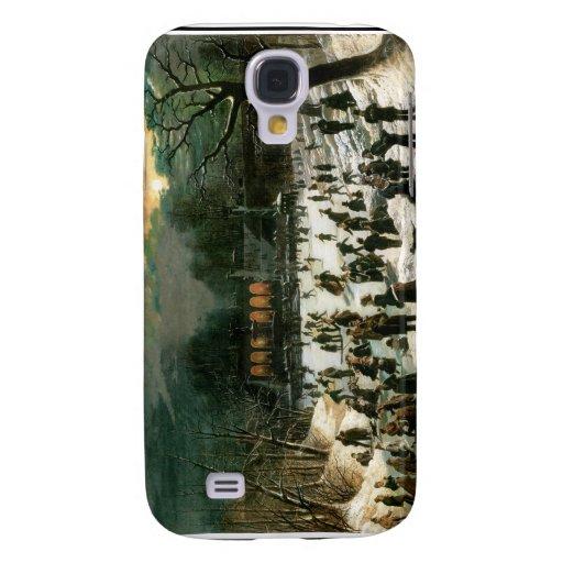 Moonlight Skating in Central Park Galaxy S4 Cases
