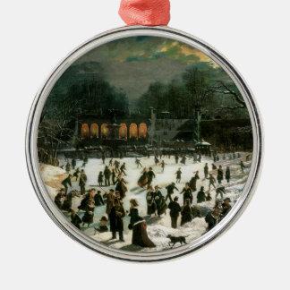 Moonlight Skating in Central Park Christmas Ornament