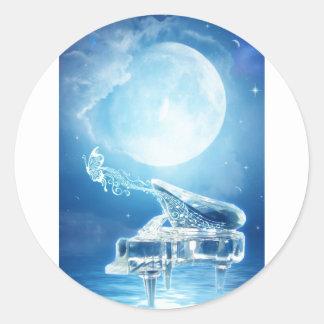 Moonlight Sonata Round Sticker