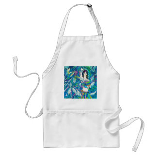 Moonlight Song Hao Ping oriental abstract lady art Standard Apron