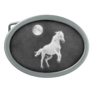 Moonlight Stallion Belt Buckles