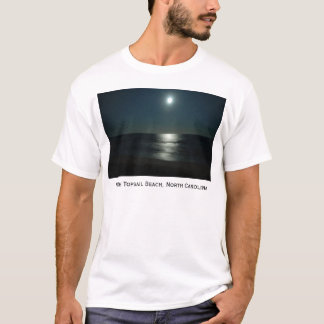 Moonlight Sun, North Topsail Beach, North Carolina T-Shirt