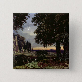 Moonlight, Thoughts in a Churchyard 15 Cm Square Badge
