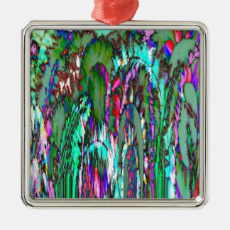 Moonlight through feathered grasses christmas ornament