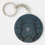 Moonlight Tree Silhouette Key Chain