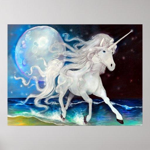 Moonlight Unicorn Poster