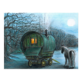 Moonlight wagon postcard