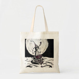 Moonlight Witchy Mermaid Ink Drawing Tote Bag