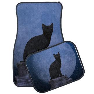 Moonlit Cat Car Mat