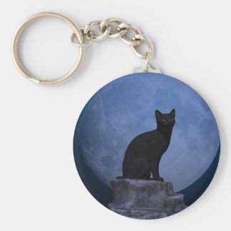 Moonlit Cat Key Ring