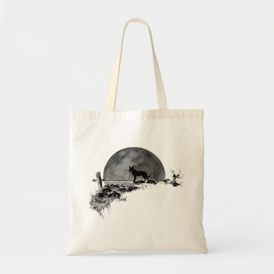 Moonlit Dog Tote Bag