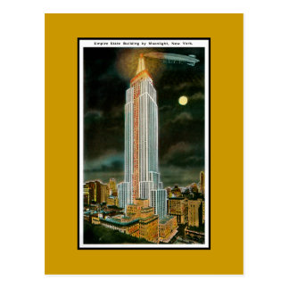 Moonlit Empire State Building Postcard