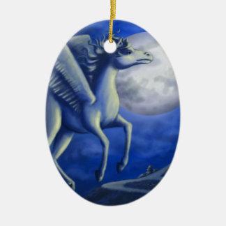 Moonlit Flight Ceramic Oval Decoration
