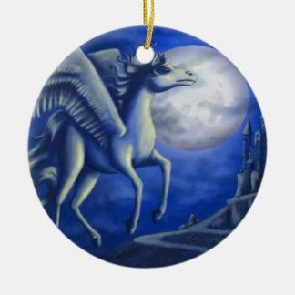 Moonlit Flight Round Ceramic Decoration