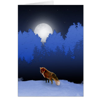 Moonlit Fox Card