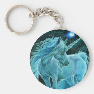 Moonlit Glade ~ Unicorn Keyring Basic Round Button Key Ring