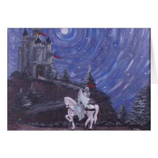 MOONLIT KNIGHT GREETING CARD