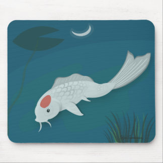 Moonlit Koi Vector Art Mousepad