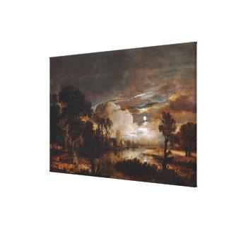 Moonlit Landscape by Aert Van Der Neer (1647) Gallery Wrap Canvas