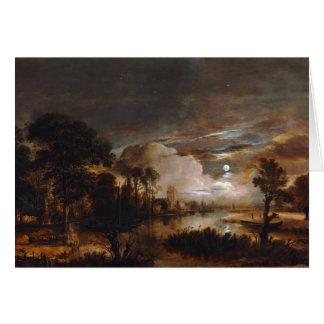Moonlit Landscape by Aert Van Der Neer (1647) Greeting Card