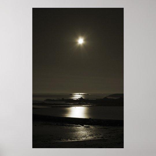 Moonlit Lido Poster