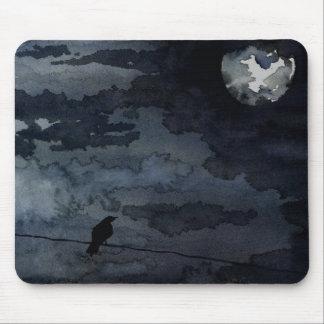 Moonlit Raven - Full Moon Art Mouse Mat