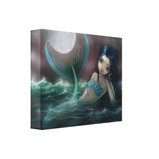 Moonlit River Gallery Wrapped Canvas Print