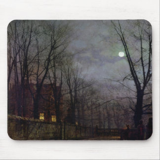 Moonlit Street Scene, 1882 (oil on canvas) 2 Mouse Pad